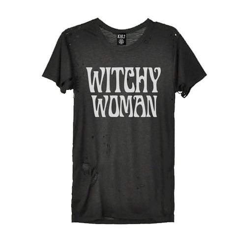 WITCHY WOMAN BLACK DESTROYED TEE