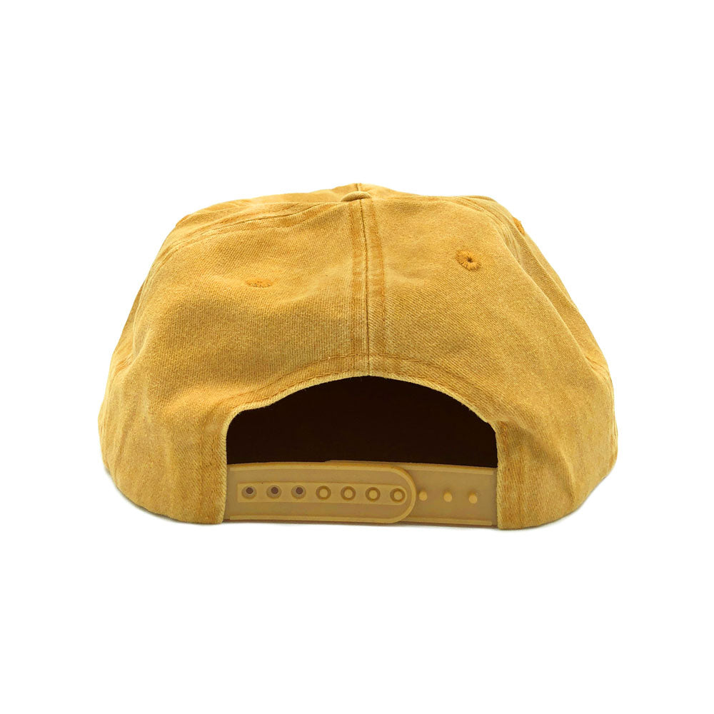 Free and Easy Don't Trip Snapback Mustard Flat Brim Hat