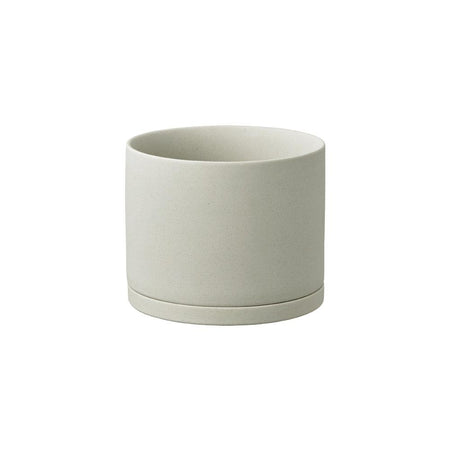 Kinto Earth Grey 5 inch Ceramic Planter
