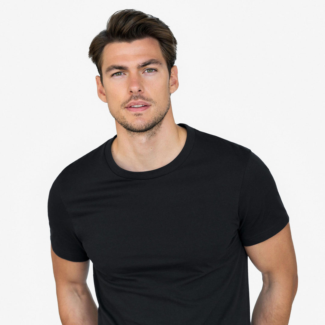 Bread and Boxers Black Organic Cotton Crewneck T-Shirt