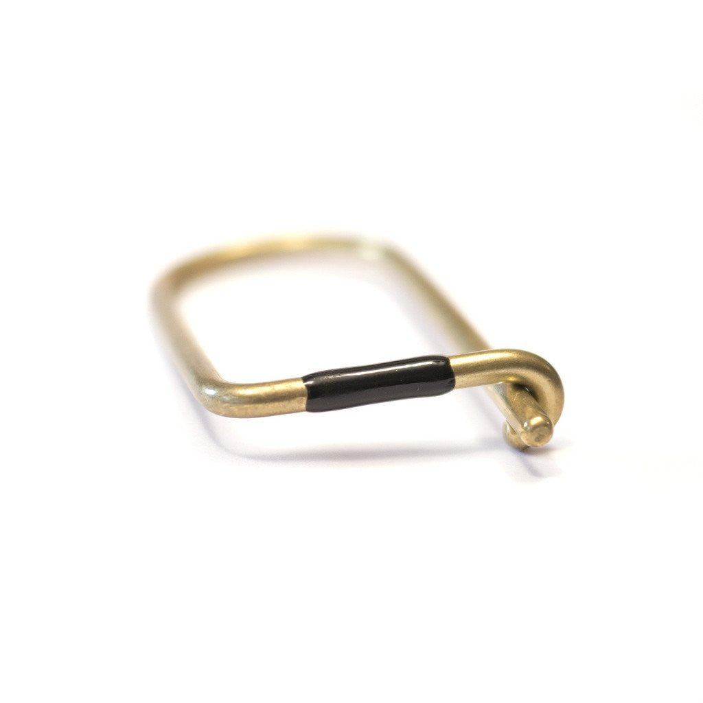 Craighill Brass Wilson Enameled Black Key Ring