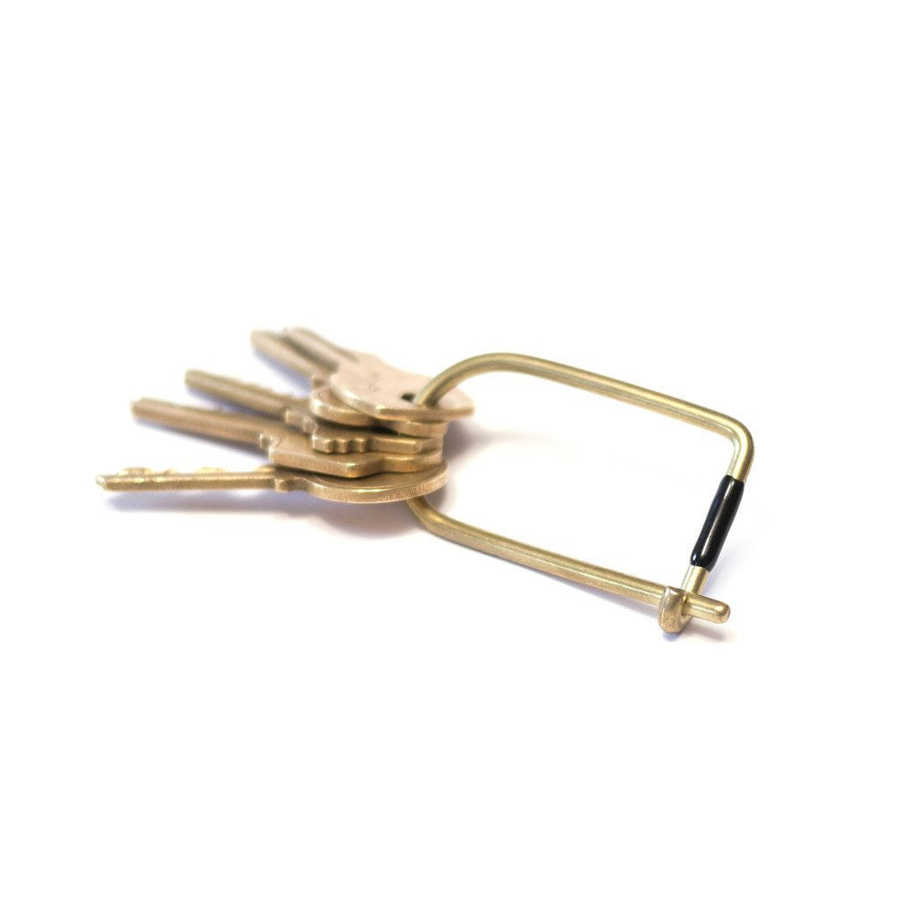 Craighill Brass Black Enameled Wilson Key Ring