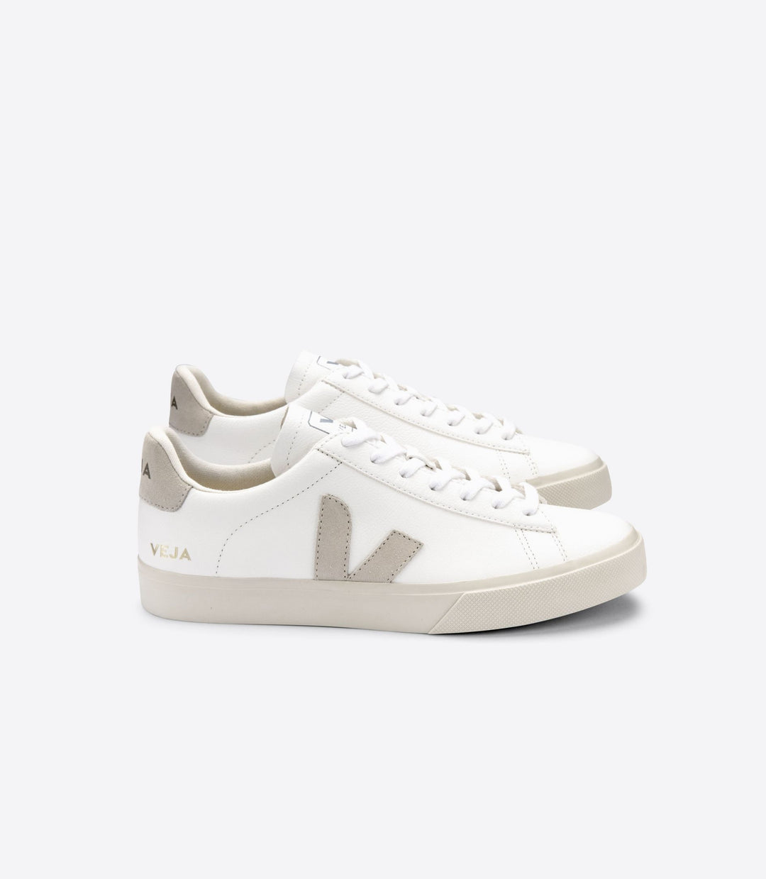 VEJA Women's Campo Chromefree Leather Extra White Natural Suede Sneaker