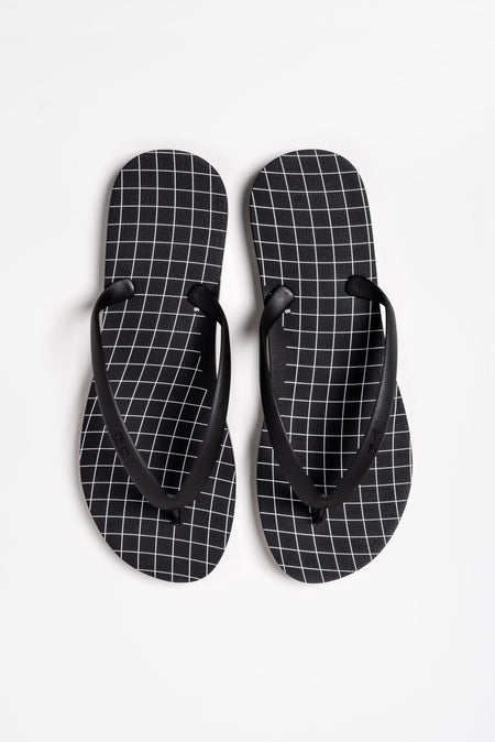 Tidal New York Black Wave Grid Flip Flop