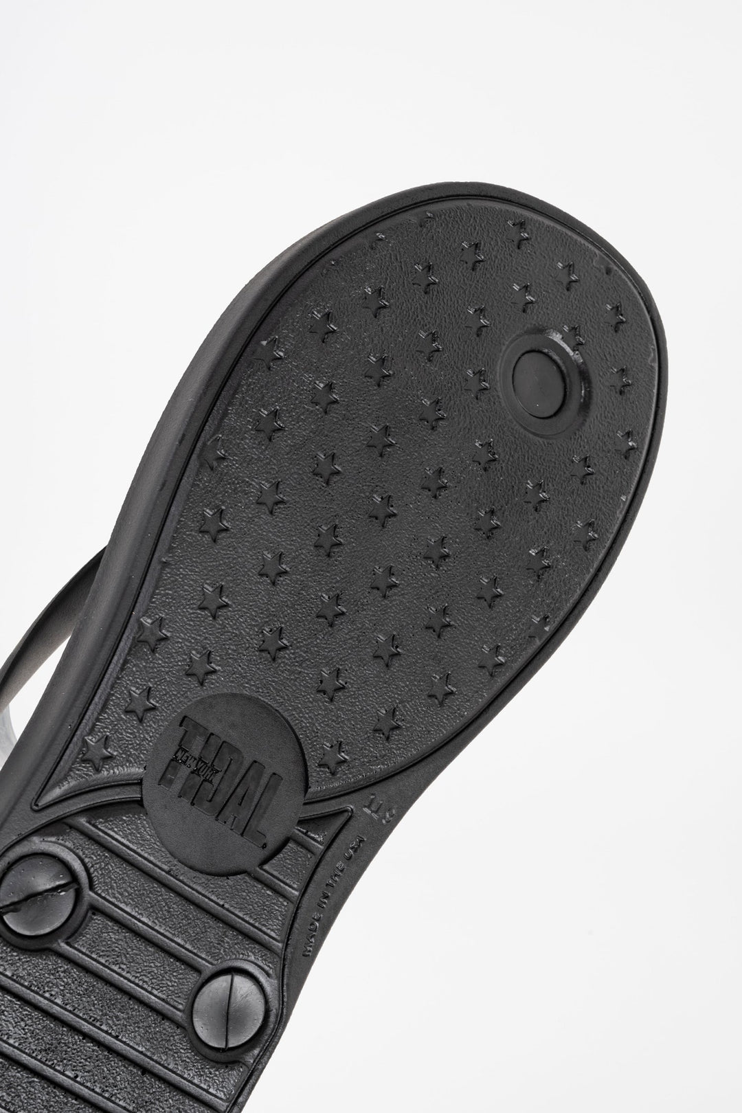 Tidal New York Black Moo Flip Flop