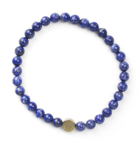 Caputo & Co Blue Lapis Lazuli Gemstone Stretch Bracelet