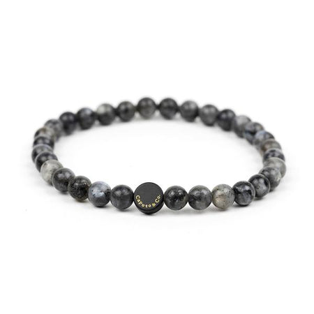 Caputo & Co Black Labradorite Gemstone Stretch Bracelet