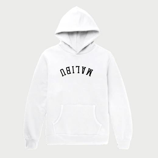Hiro Clark White Malibu Hooded Sweatshirt