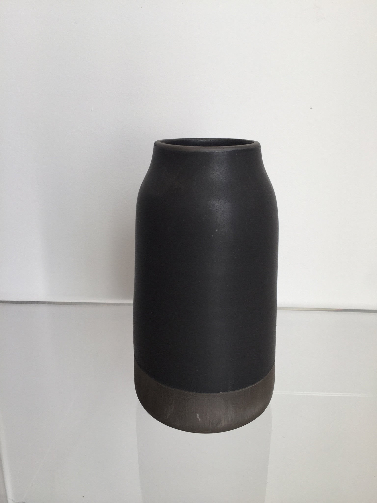 Robert Siegel Studio Black Porcelain Medium Milk Vase