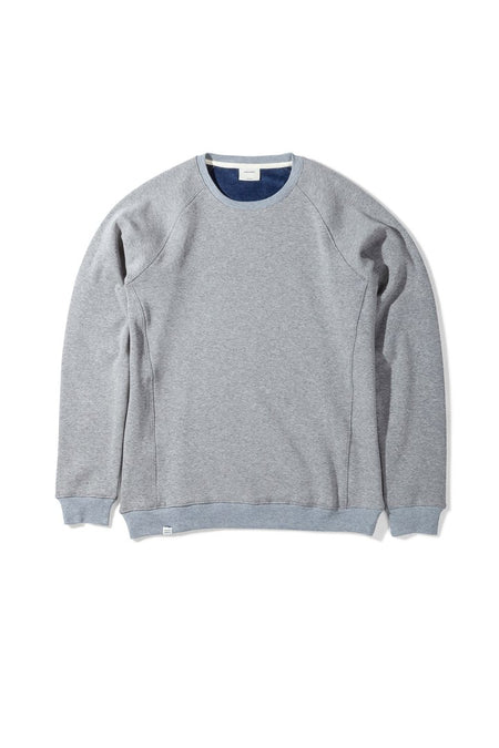 Native North Grey Fur Fleece Crewneck Sweatshirt