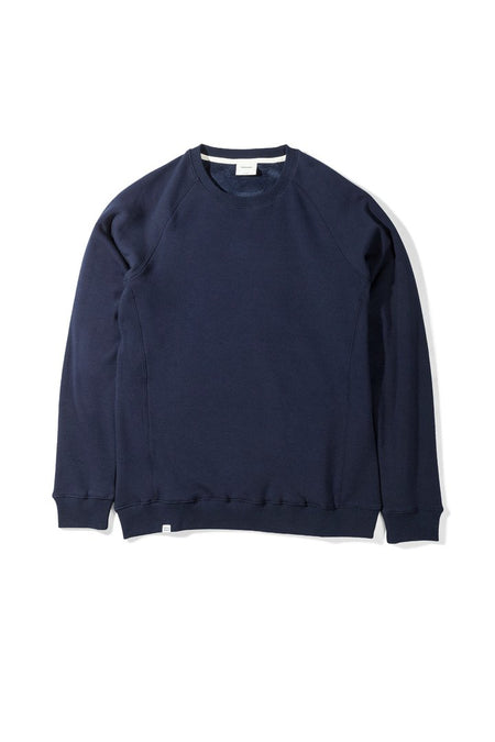Native North Navy Blue Fur Fleece Crewneck Sweatshirt