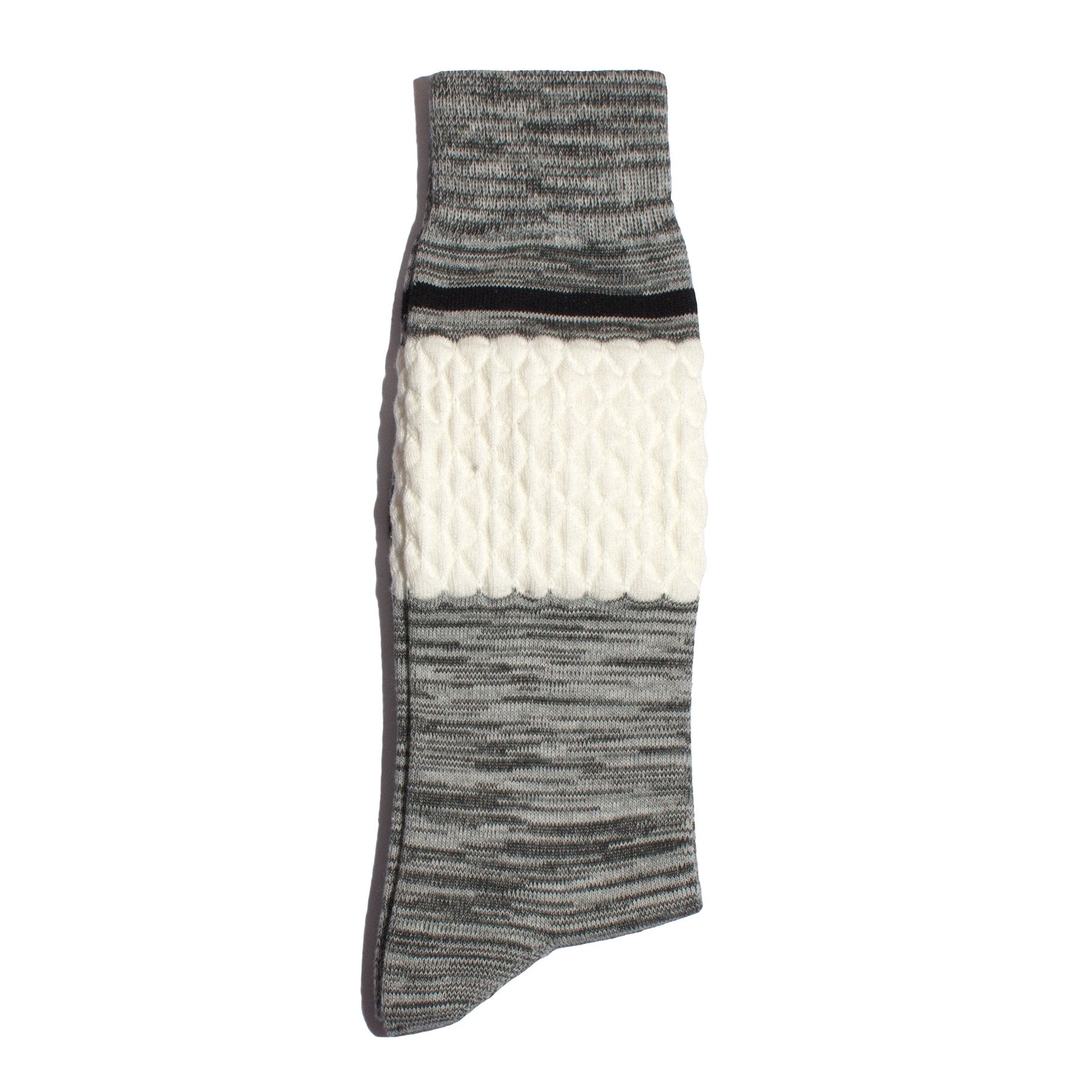 Necessary Anywhere Grey White Two Socks