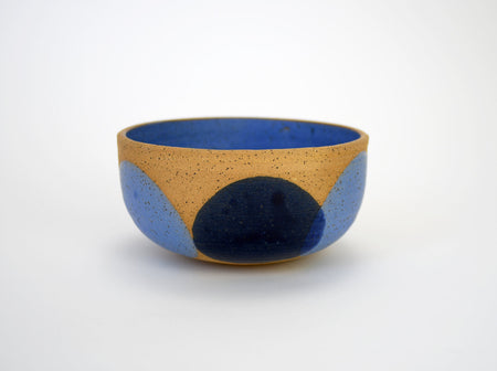 Natan Moss Blue on Blue Cereal Bowl