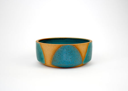 Natan Moss Green and Blue Low Ceramic Bowl