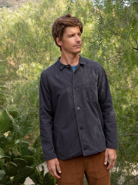 Mollusk Faded Navy Blue Deck Jacket
