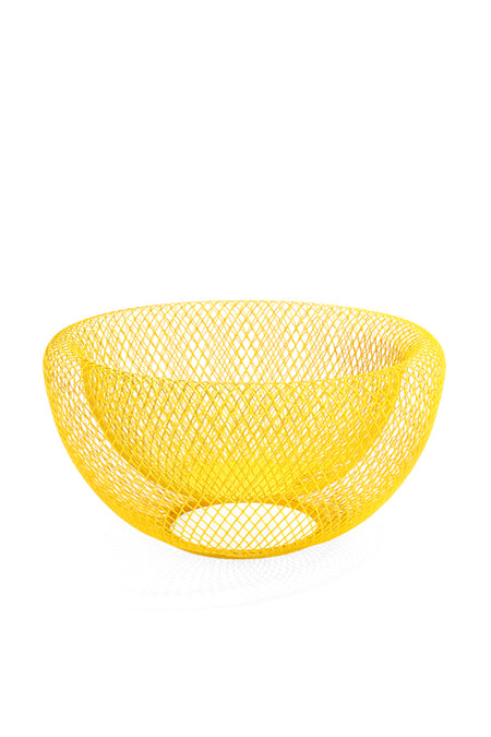 MOMA Yellow Wire Mesh Bowl