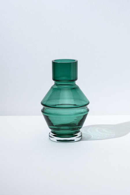 Moma Raawii Green Small Glass Vase