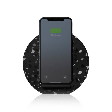 Native Union Slate Terrazzo 10W Wireless Charger Stand