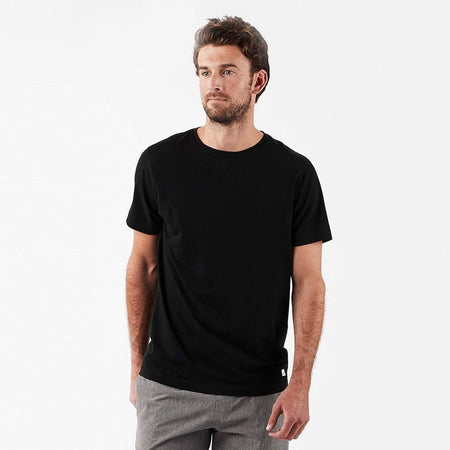 Vuori Tuvalu Black Pima Cotton T-Shirt