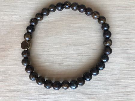 Caputo & Co Brown Bronzite Gemstone Stretch Bracelet