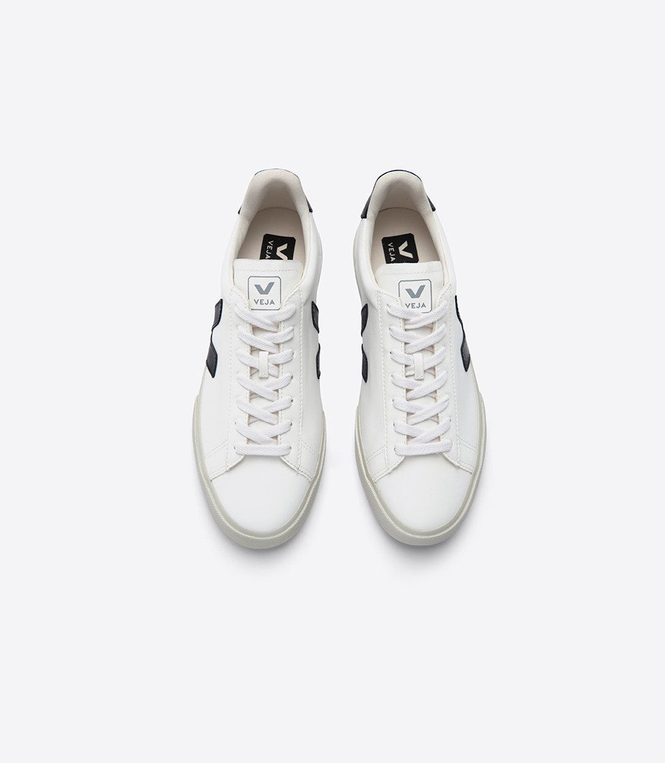 VEJA Men's Campo Chrome-free Leather White Black Sneaker