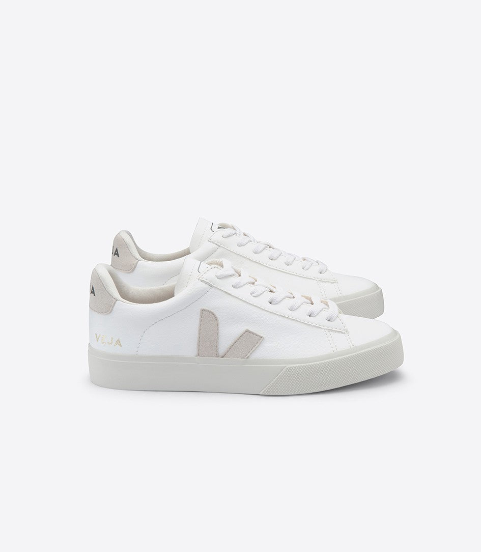 VEJA Men's Campo Chrome-free Leather White Natural Sneaker