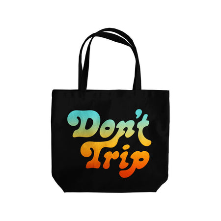 Free and Easy Don't Trip Black Canvas Tote