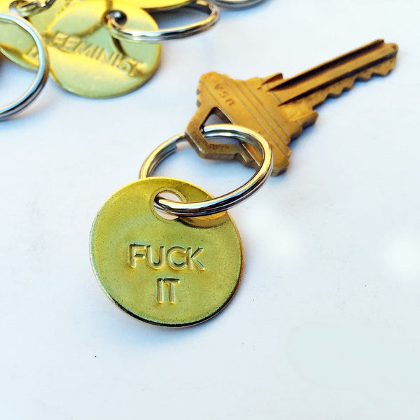 Chaparral Studio Fuck It Small Brass Keychain
