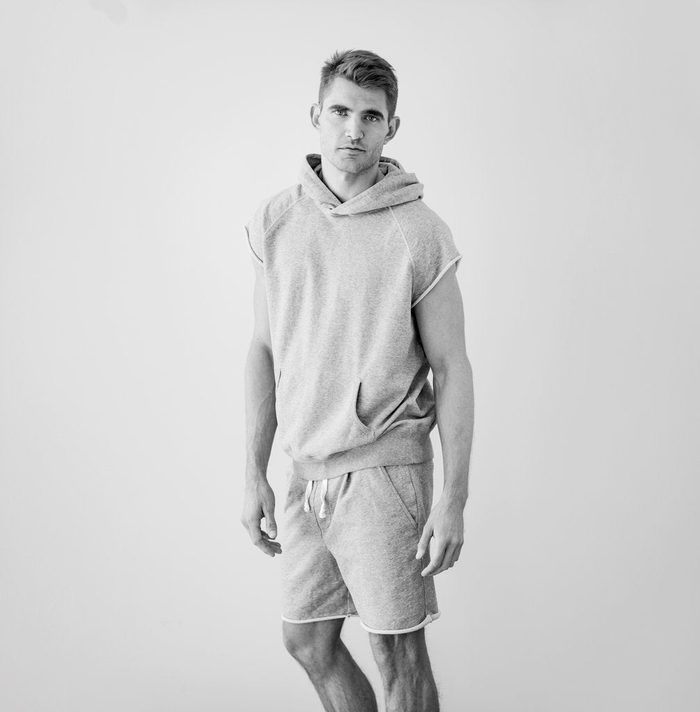 Hiro Clark Grey Malibu Sleeveless Hooded Sweatshirt