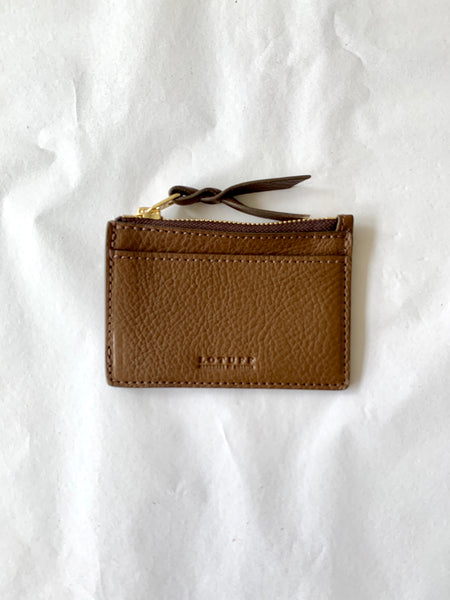Lotuff Clay Zipper Credit Card Hybrid Wallet