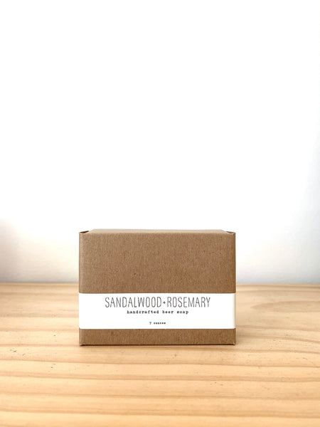 Handmade La Conner Sandalwood and Rosemary Bar Soap