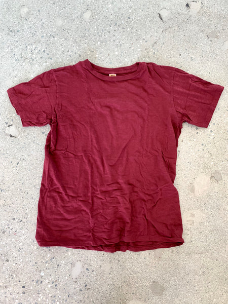 Velva Sheen Burgundy Rolled T Shirt