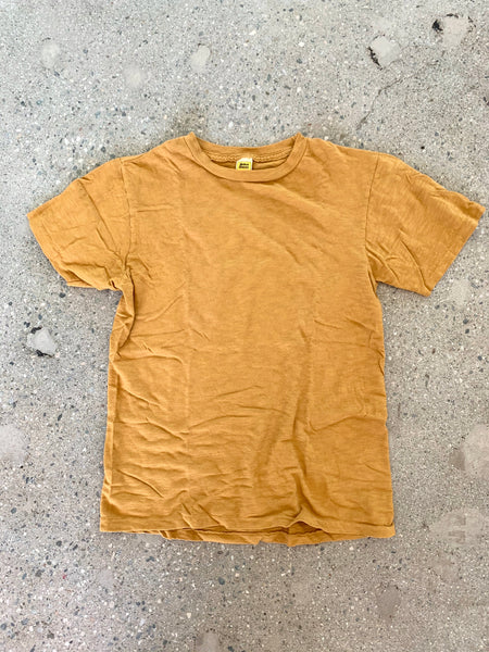 Velva Sheen Mustard Rolled T Shirt