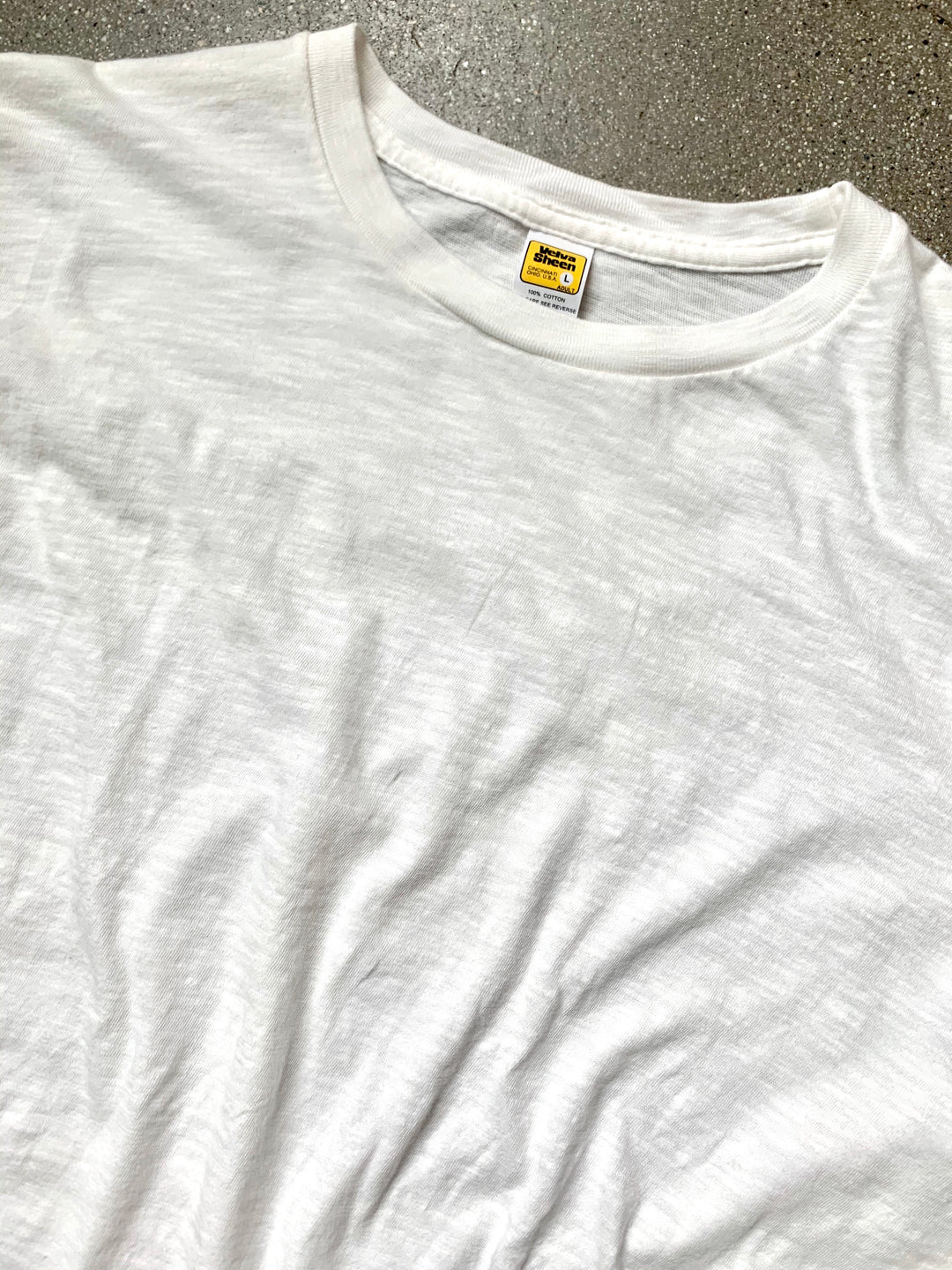 Velva Sheen White Regular Long Sleeve Tee