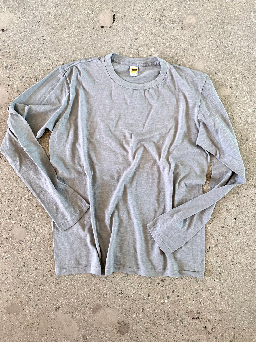 Velva Sheen Grey Regular Long Sleeve Tee