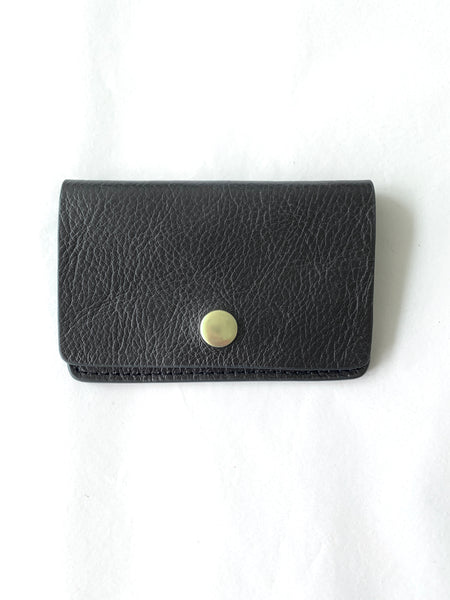 Lotuff Black Snap Leather Wallet