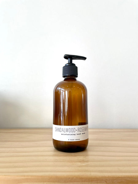 Handmade La Conner Sandalwood and Rosemary Hand Wash