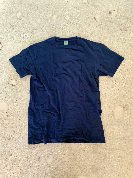 Velva Sheen Navy Blue Rolled T Shirt