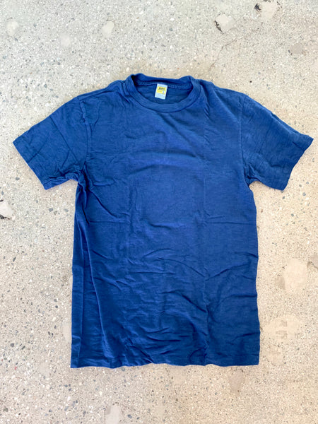 Velva Sheen Blue Rolled T Shirt