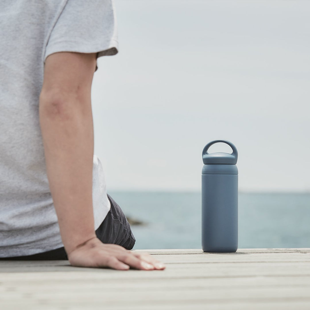Kinto Navy Blue Day Off Insulated Tumbler