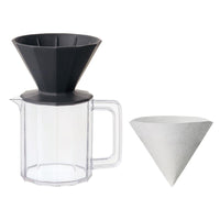 Kinto Black Alfresco Coffee Brewer Set
