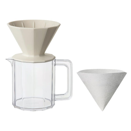 Kinto Beige Alfresco Coffee Brewer Pour Over Set
