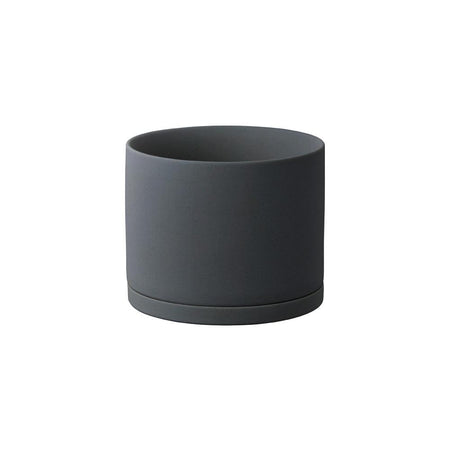 Kinto Dark Grey 5 inch Ceramic Planter