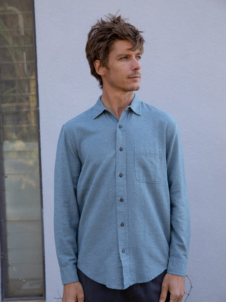 Mollusk Blue One Pocket Shirt