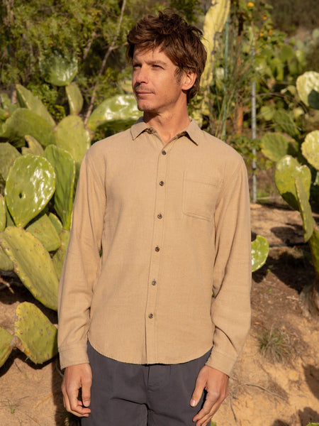 Mollusk Tan One Pocket Shirt