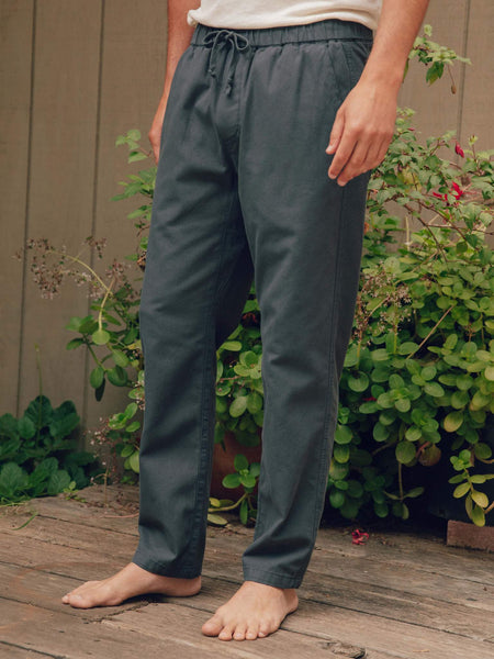 Mollusk Faded Navy Blue Scout Drawstring Pants