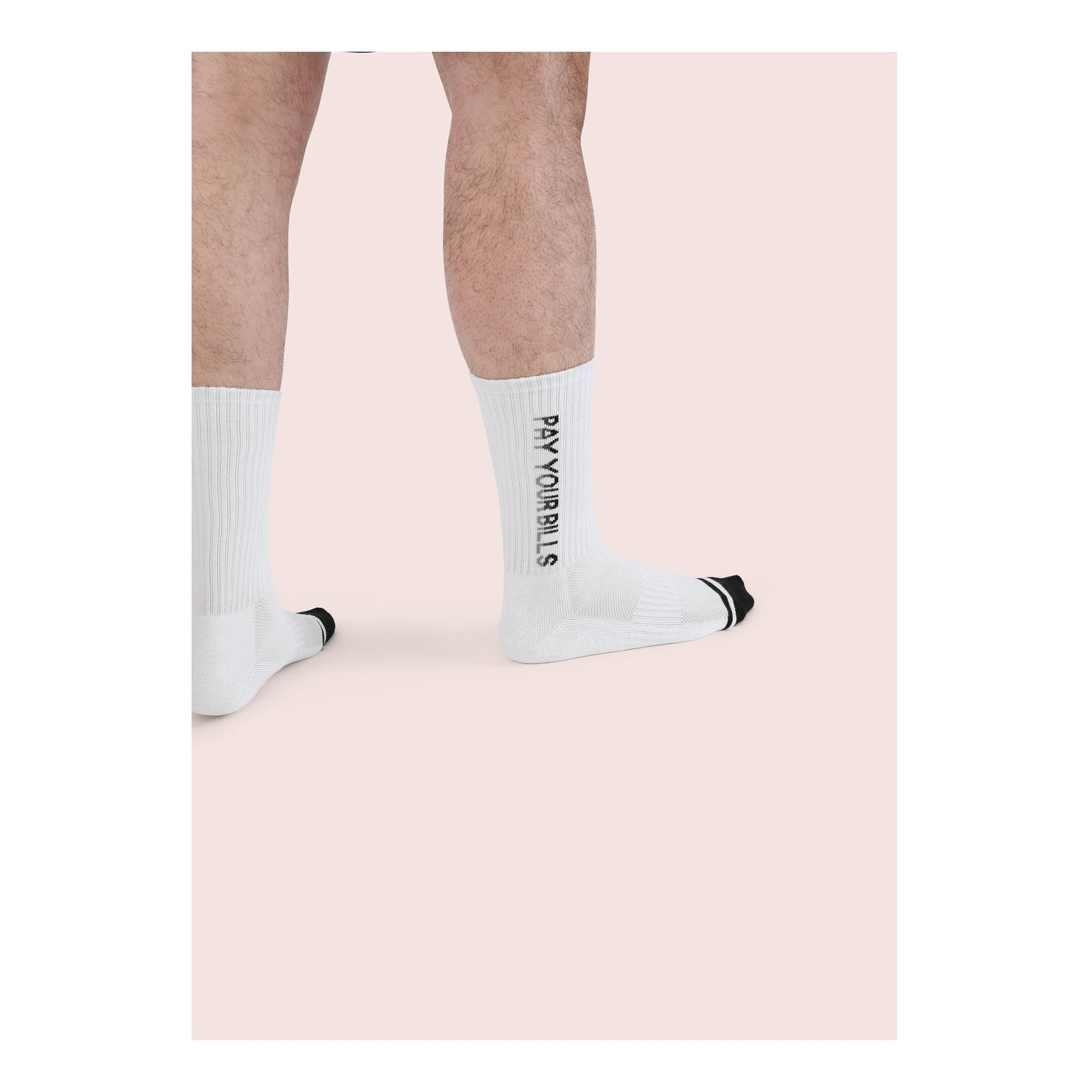 Necessary Anywhere White Pay Your Bills Ninety Seven Socks