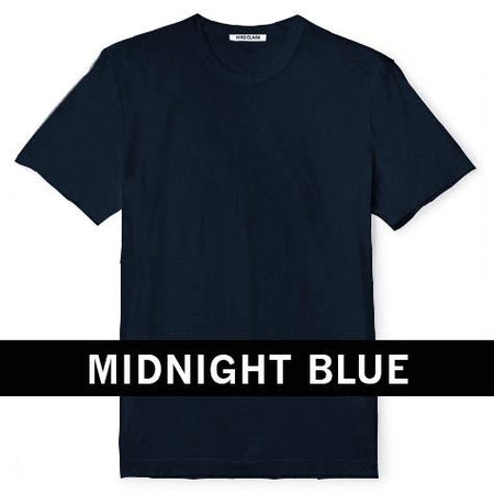 Hiro Clark Combed Cotton Navy Tee
