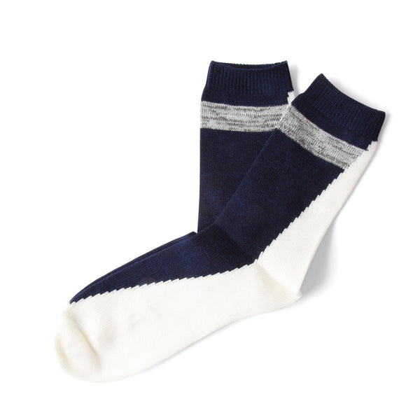 Necessary Anywhere Navy and White Five Socks