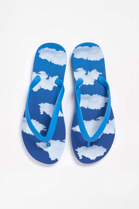 Tidal New York Blue Cloud Flip Flop